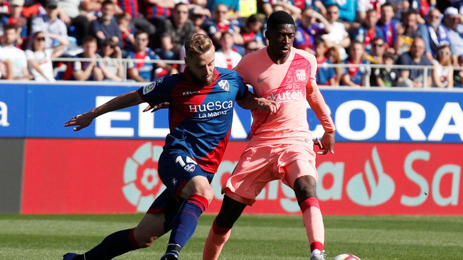 Foto: La liga santander - sd huesca v fc barcelona