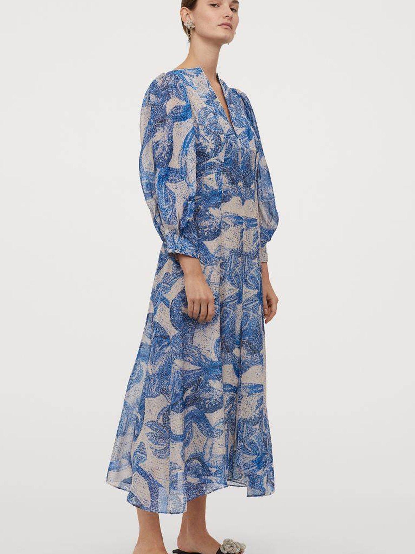 El vestido de HyM que lleva Victoria de Suecia. (Cortesía)