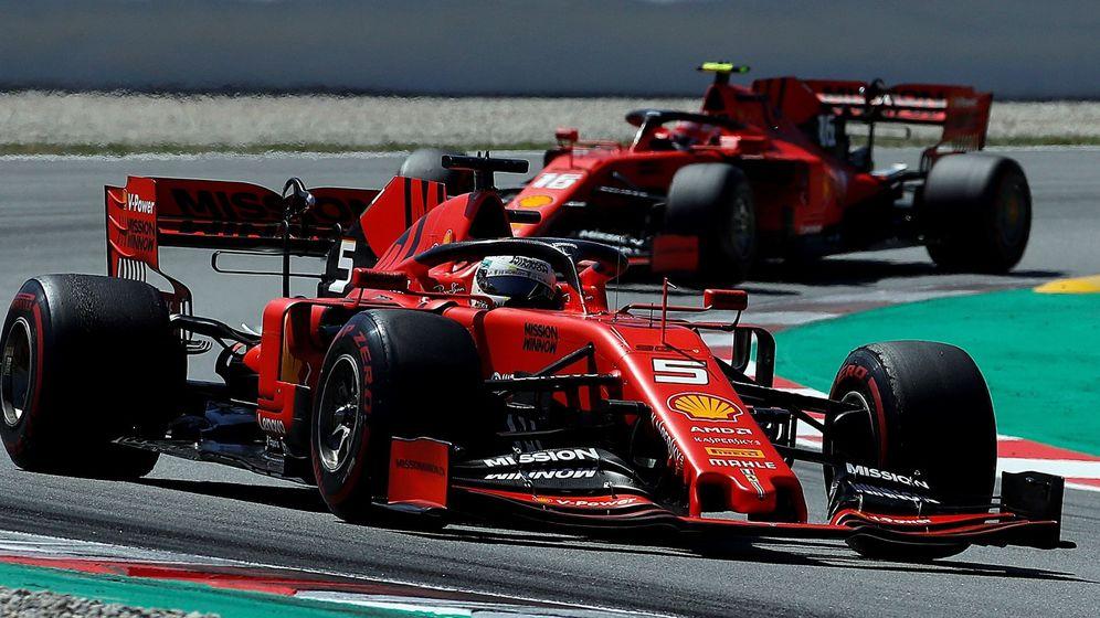 Foto: Ferrari se hunde en España. (EFE)