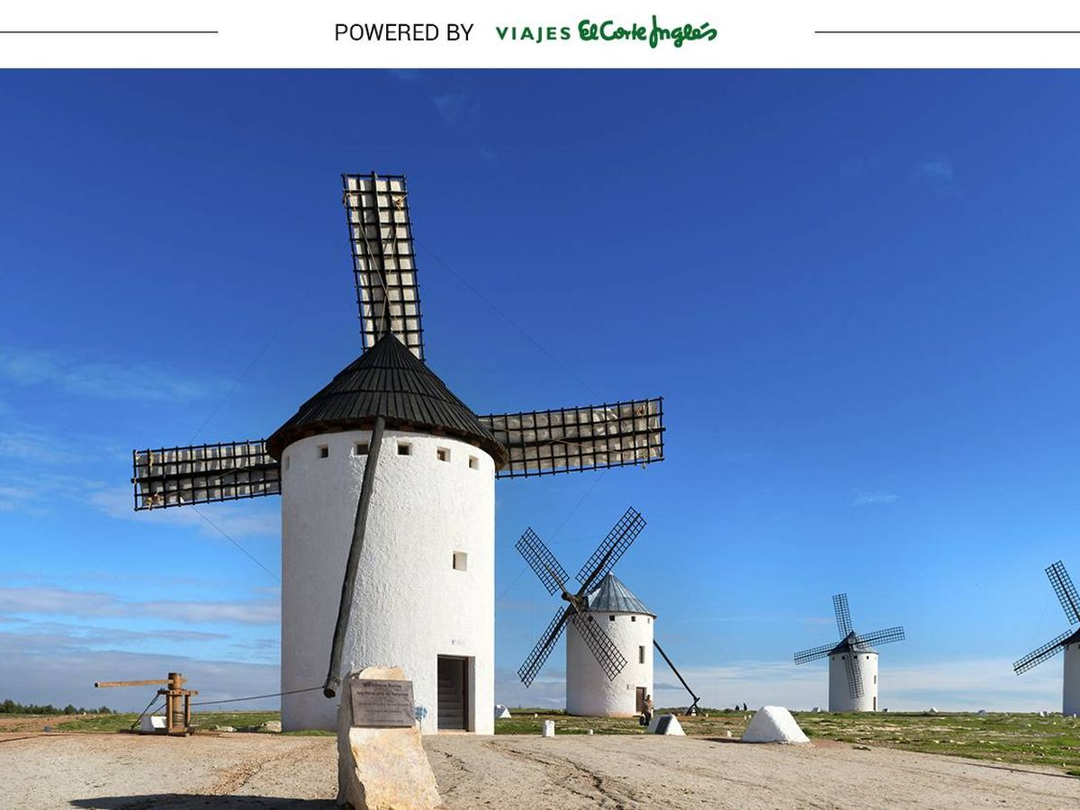 Foto:  Molino de viento en Campo de Criptana. ©Turismo Castilla-La Mancha. (David Blázquez)