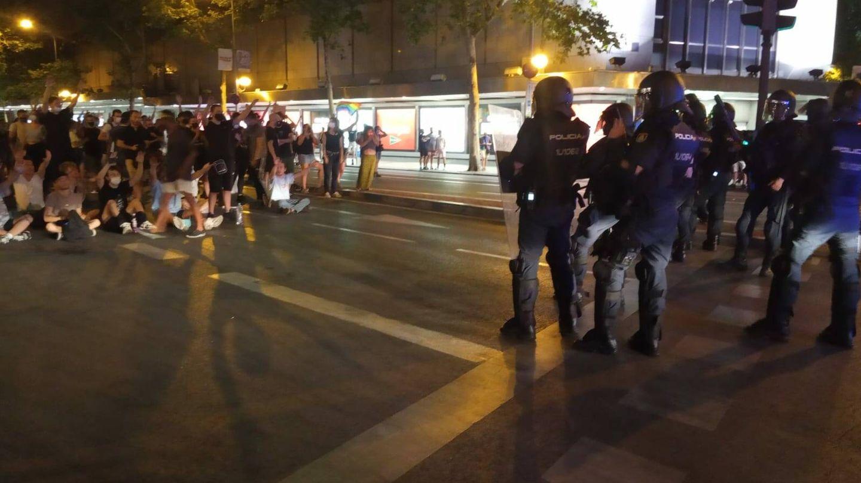 Momentos de tensión en Madrid. (Israel Merino)
