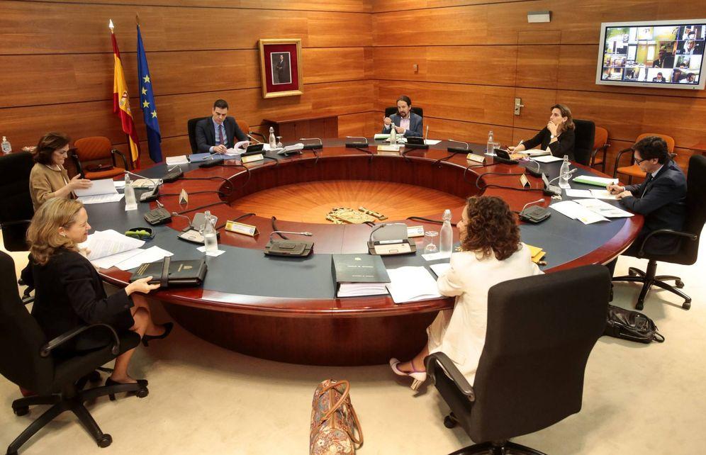 Foto: Pedro Sánchez preside el Consejo de Ministros de este 5 de mayo. (JM Cuadrado | Pool Moncloa)