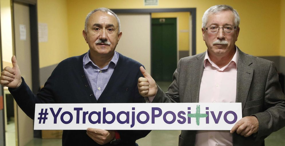 Foto: Los secretarios generales de UGT y CCOO, Pepe Álvarez (i) e Ignacio Fernández Toxo. (EFE)