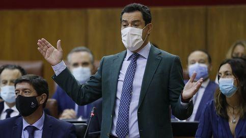 Moreno presume de un Presupuesto andaluz récord mientras agita el agravio con Cataluña