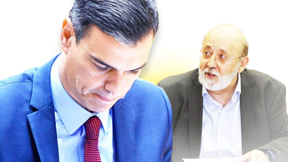 Foto: Sánchez y Tezanos, en un montaje fotográfico. (EC)