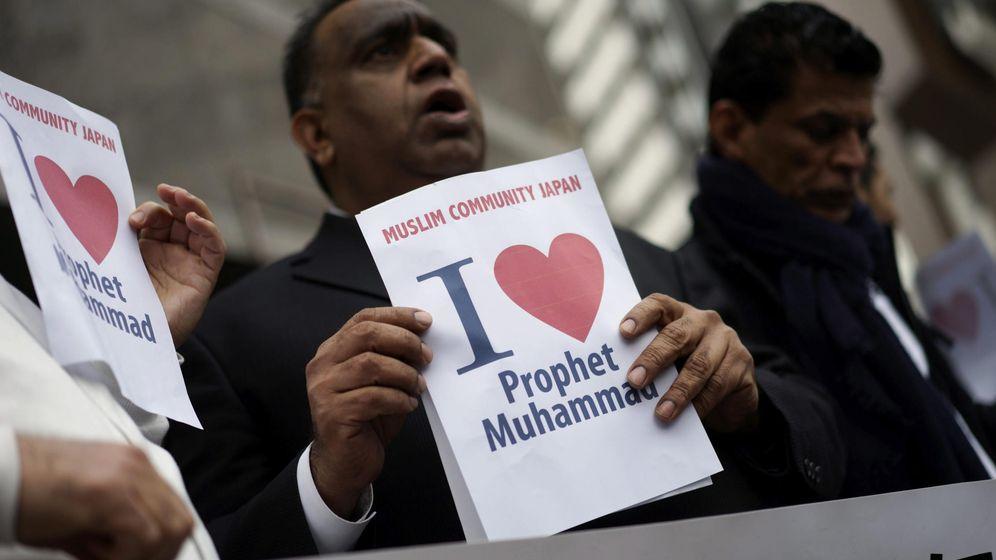 Foto: Manifestación contra caricaturas del profeta Mahoma. (EFE)