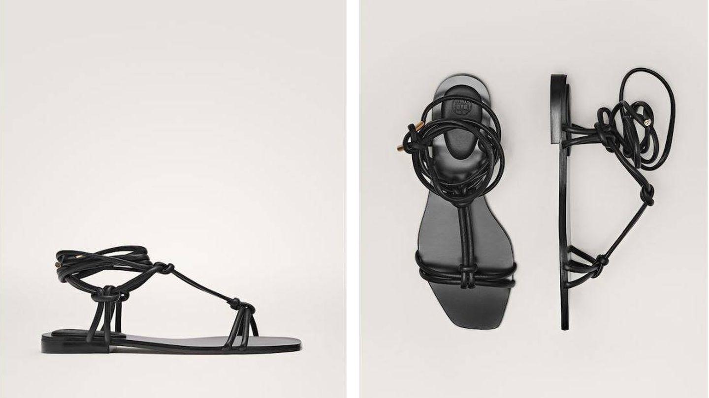 Sandalias planas pura tendencia de Massimo Dutti. (Cortesía)