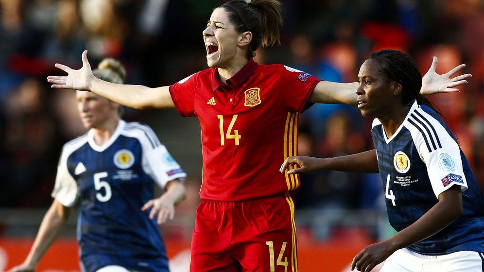Foto: España se juega este domingo el pase a las semifinales de la Eurocopa. (EFE)