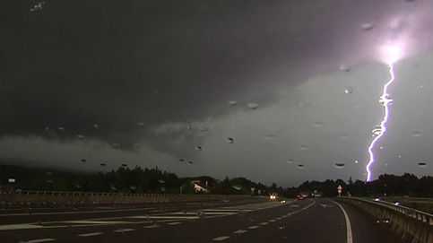 Gran tormenta de verano en Orense