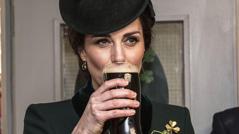 Kate Middleton durante el desfile de The Irish Guards de San Patricio. (Getty)