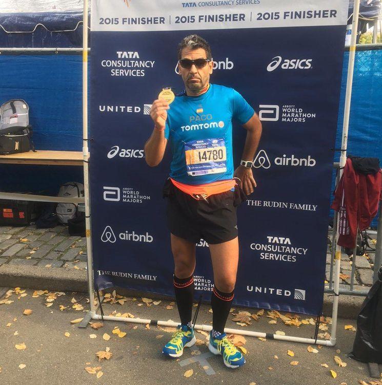Paco Roncero al terminar la maratón