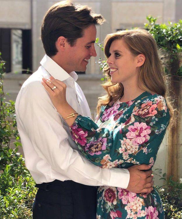 Foto: Beatriz de York, con su prometido, Edoardo. (Instagram)