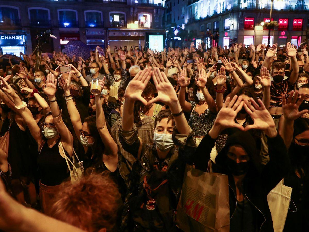 Foto: Protestas en Madrid. (Reuters)