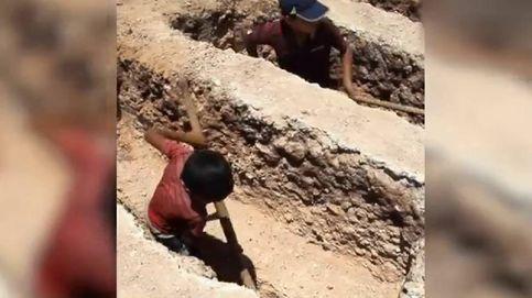 Jawad y Yazan, dos niños sepultureros de Siria
