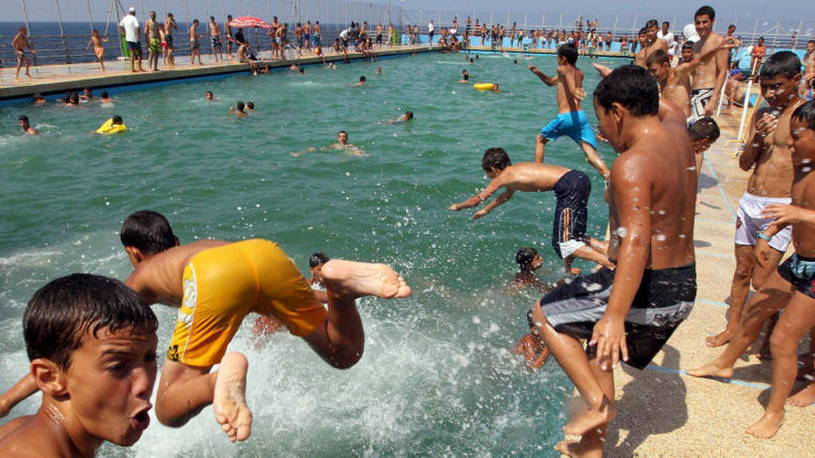Foto: ¡¡Al agua patos!! (Efe)