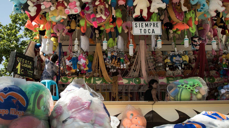 Una tómbola en la feria de Torrejón.