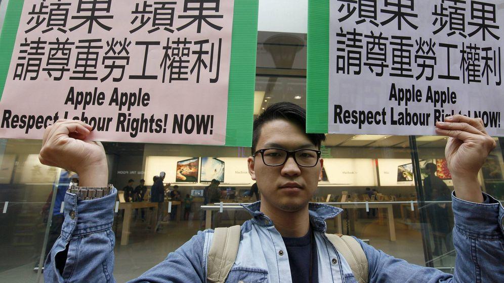 Foto: Protestas contra Apple en China. (Reuters)