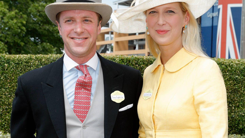 Lady Gabriella Windsor y el financiero Thomas Kingston, en una imagen de archivo. (Getty)