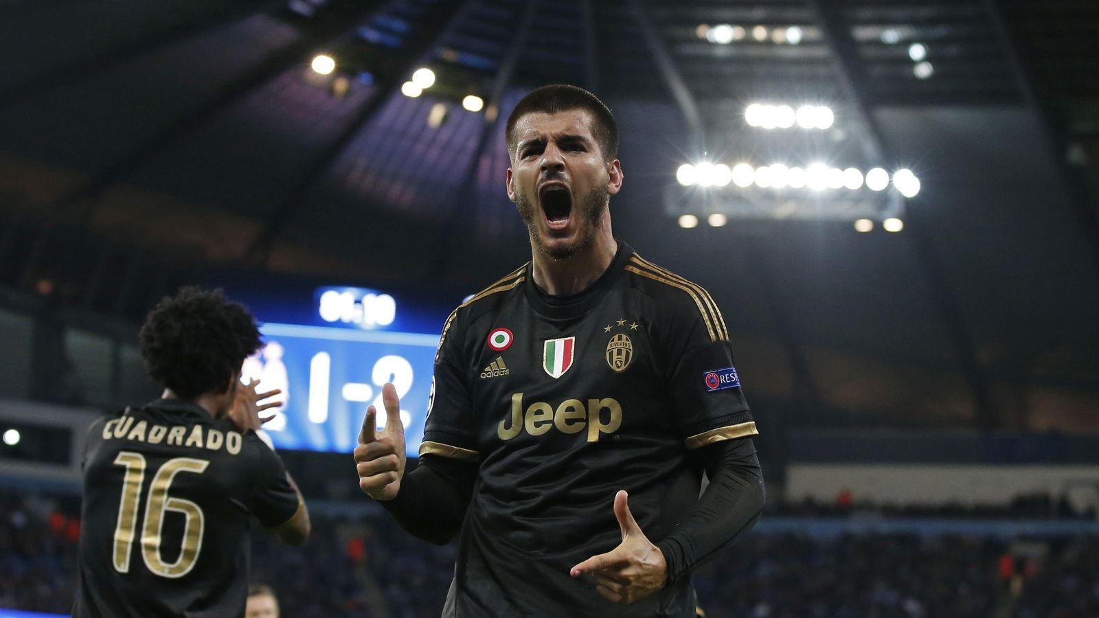 Foto: Álvaro Morata celebra el gol que dio el triunfo a la Juventus en el Etihad Stadium (Reuters)