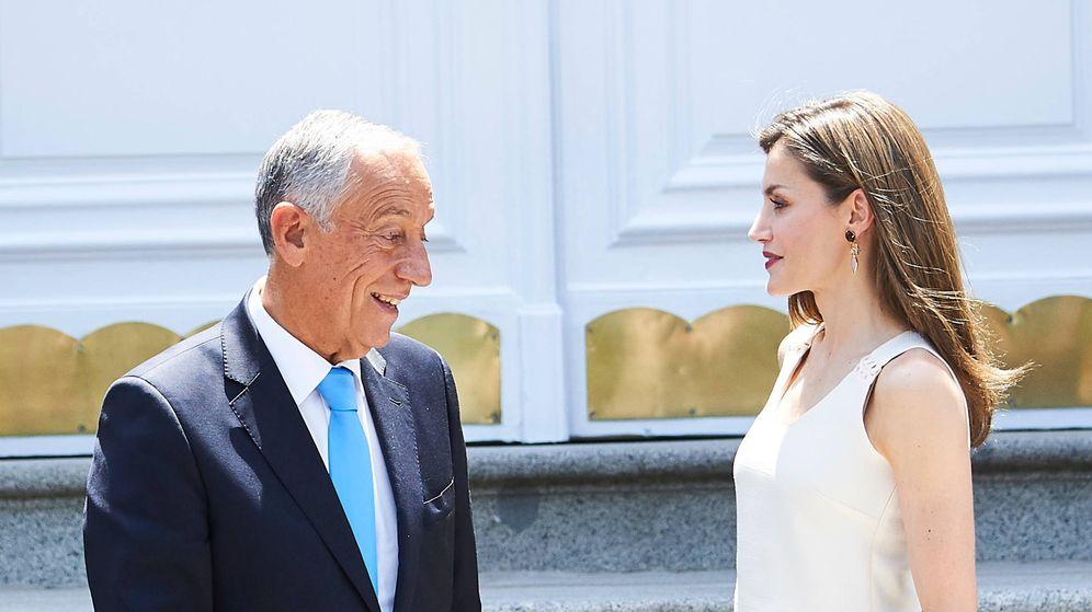 Foto: La reina Letizia con Marcelo Rebelo de Sousa. (Limited Pictures)