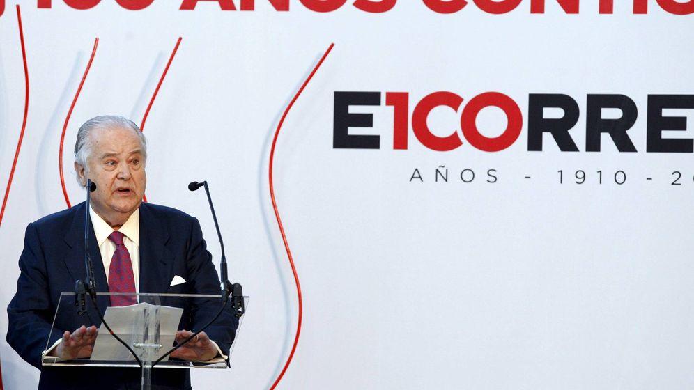 Foto: Santiago de Ybarra en el centenario de 'El Correo' celebrado en 2010. (EFE)