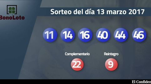 Resultados de la Bonoloto del 13 marzo 2017: números 11, 14, 16, 40, 44, 46