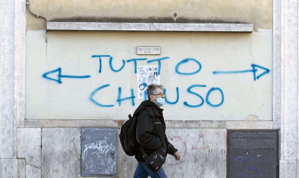 Foto: 'Todo cerrado' en Italia. (EFE)