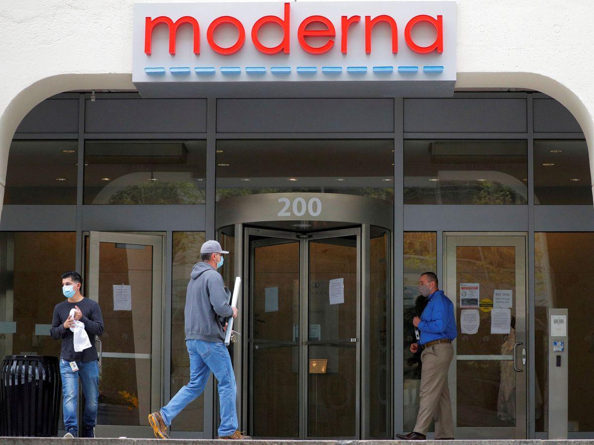 Foto: Logo de Moderna en una imagen de archivo. (Reuters)