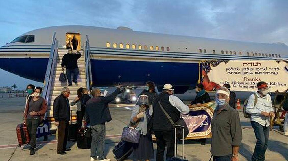 Foto: El grupo de israelíes evacuados