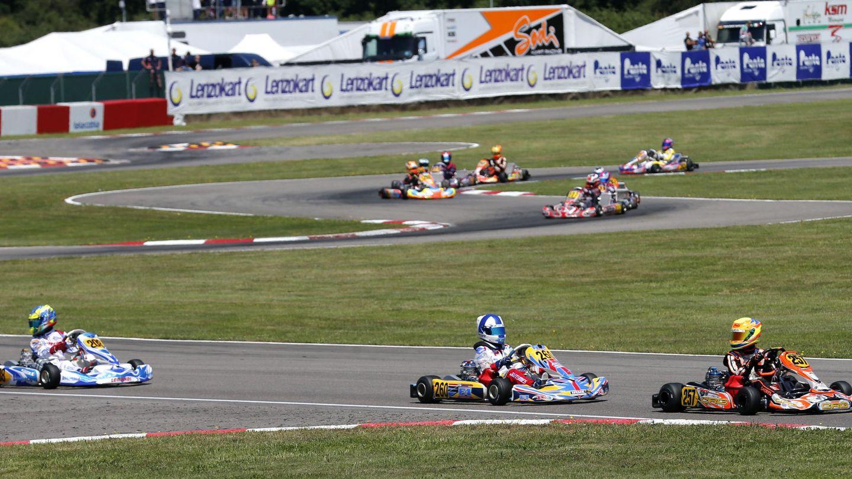 Instantánea del Campeonato de Europa de Karting en el Circuito Fernando Alonso. (EFE)