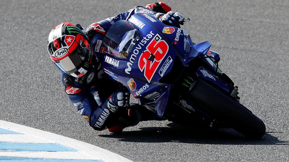 Maverick Viñales y el amago de subirse a las barbas de Valentino Rossi en Yamaha