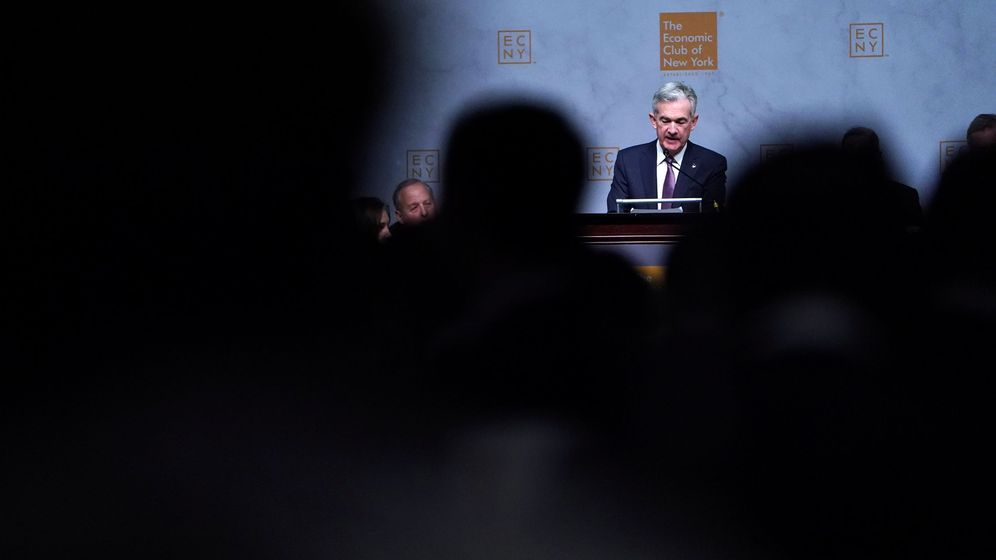 Foto: El presidente de la Reserva Federal, Jerome Powell, en el discurso del miércoles (Reuters)
