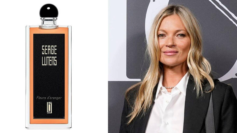 Kate Moss y Fleurs d'Oranger Eau de Parfum de Serge Lutens.