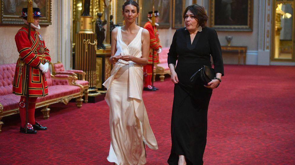 Foto: Rose Hanbury llegando a la cena de gala. (Getty)