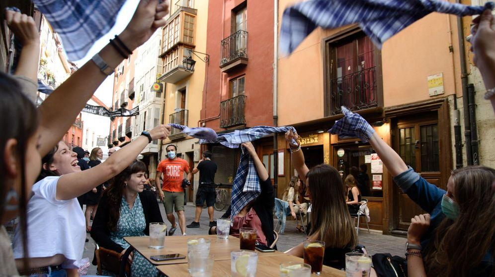 Foto: Celebración de las fiestas de La Blanca en Vitoria. (EFE)