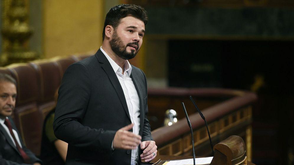 Foto: Gabriel Rufián en el pleno del Congreso de los diputados. (EFE)