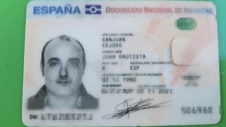 El DNI de Juan Bautista Sanjuán.