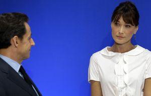 Sarkozy pone contra las cuerdas la carrera profesional de Carla Bruni