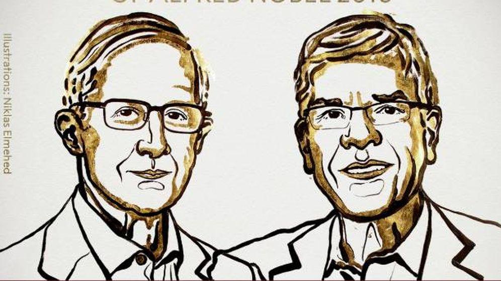 Foto: William D. Nordhaus y Paul M. Romer, ganadores del Nobel de Economía. (Foto: Premio Nobel)
