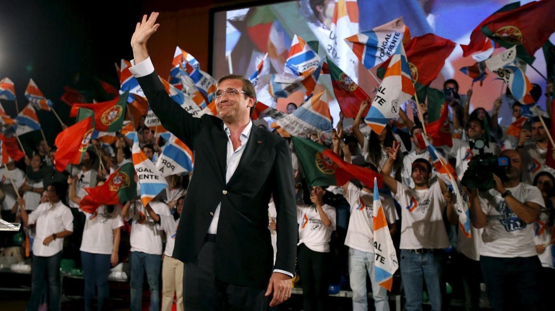 El primer ministro portugués, Pedro Passos Coelho, durante un mitin electoral en Braga (Reuters).
