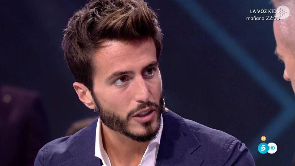 Foto: Marco Ferri en el plató de 'GH VIP'.