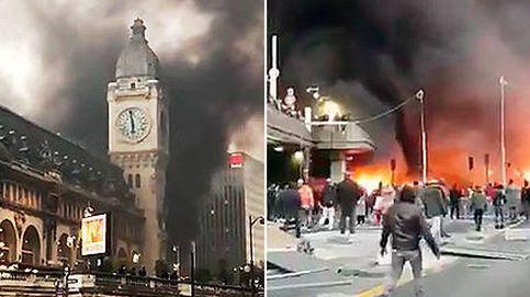 Declarado un espectacular incendio en la estación de tren 'Gare de Lyon', en París