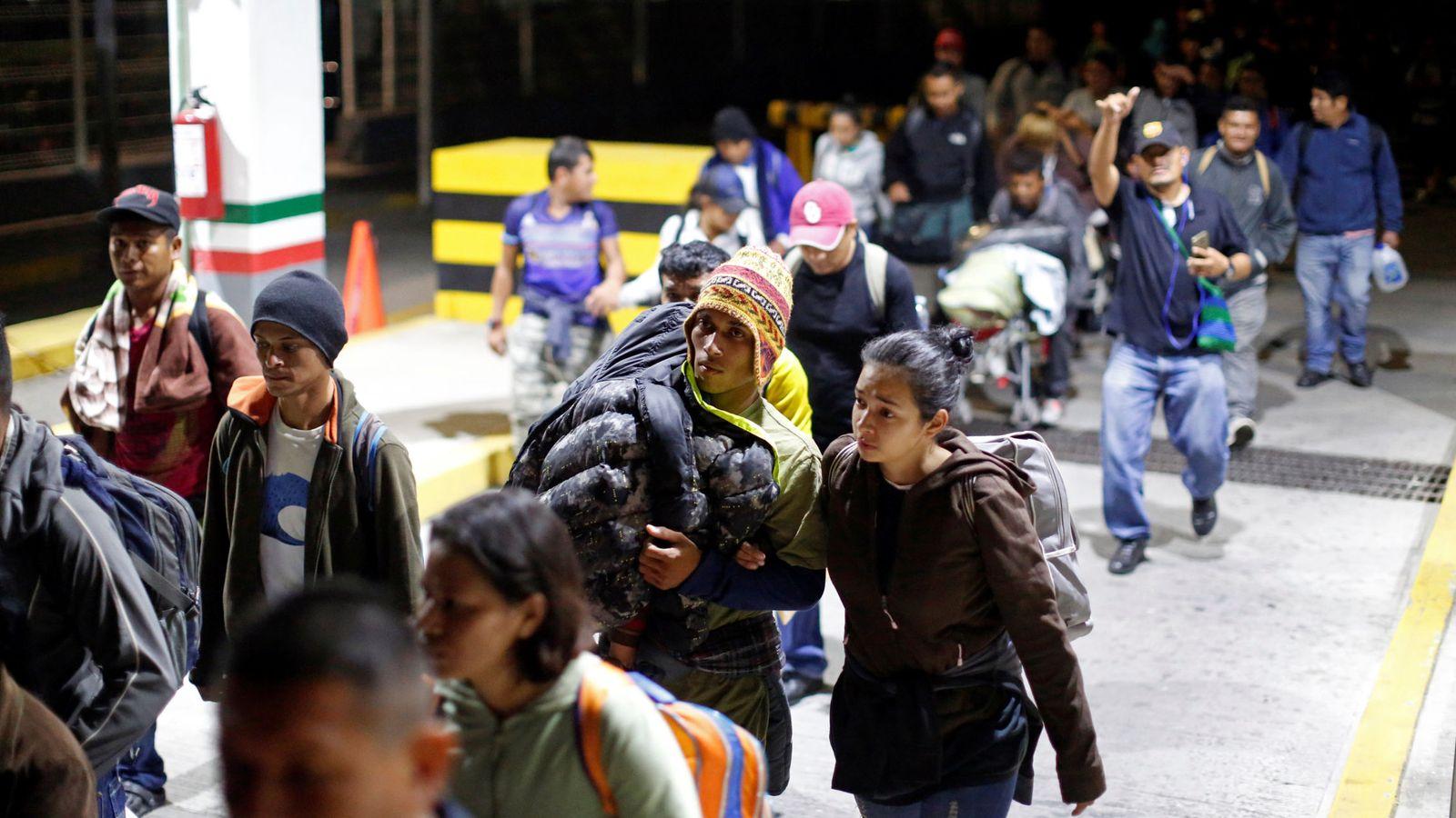 Foto: Hondureños rumbo a Estados Unidos. (Reuters)