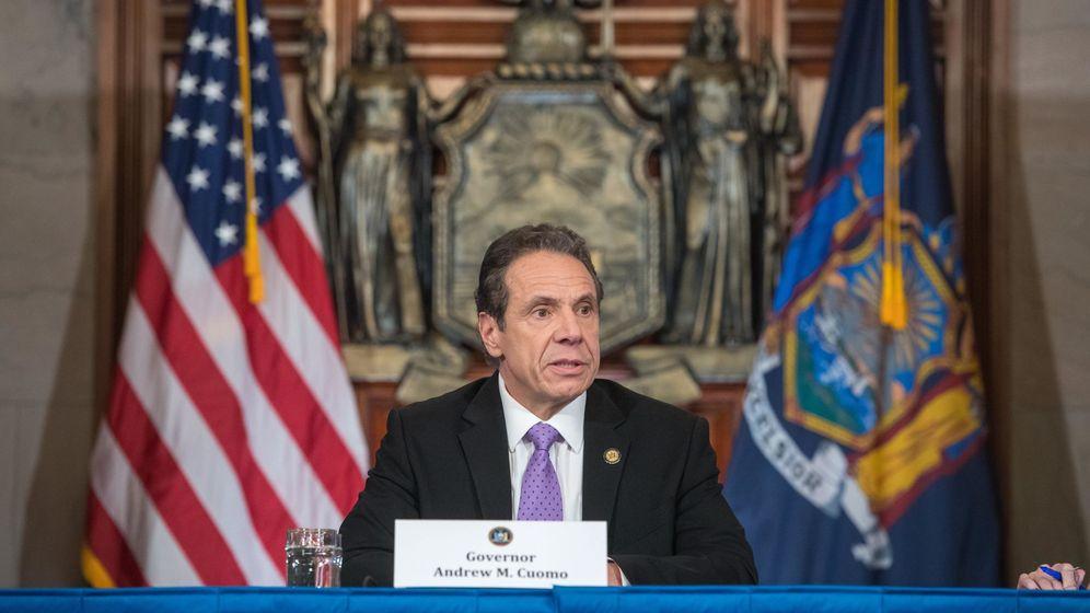 Foto: Fotografía cedida por la Gobernación de Nueva York donde aparece su gobernador, Andrew Cuomo.