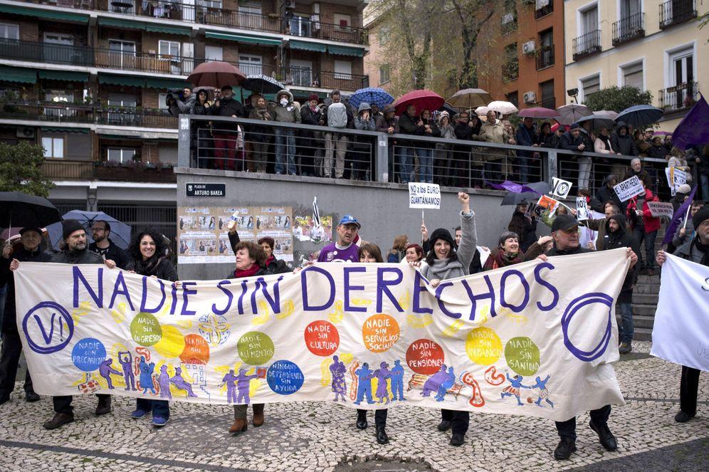 Foto: Manifestación en Lavapiés de Podemos. (EFE)