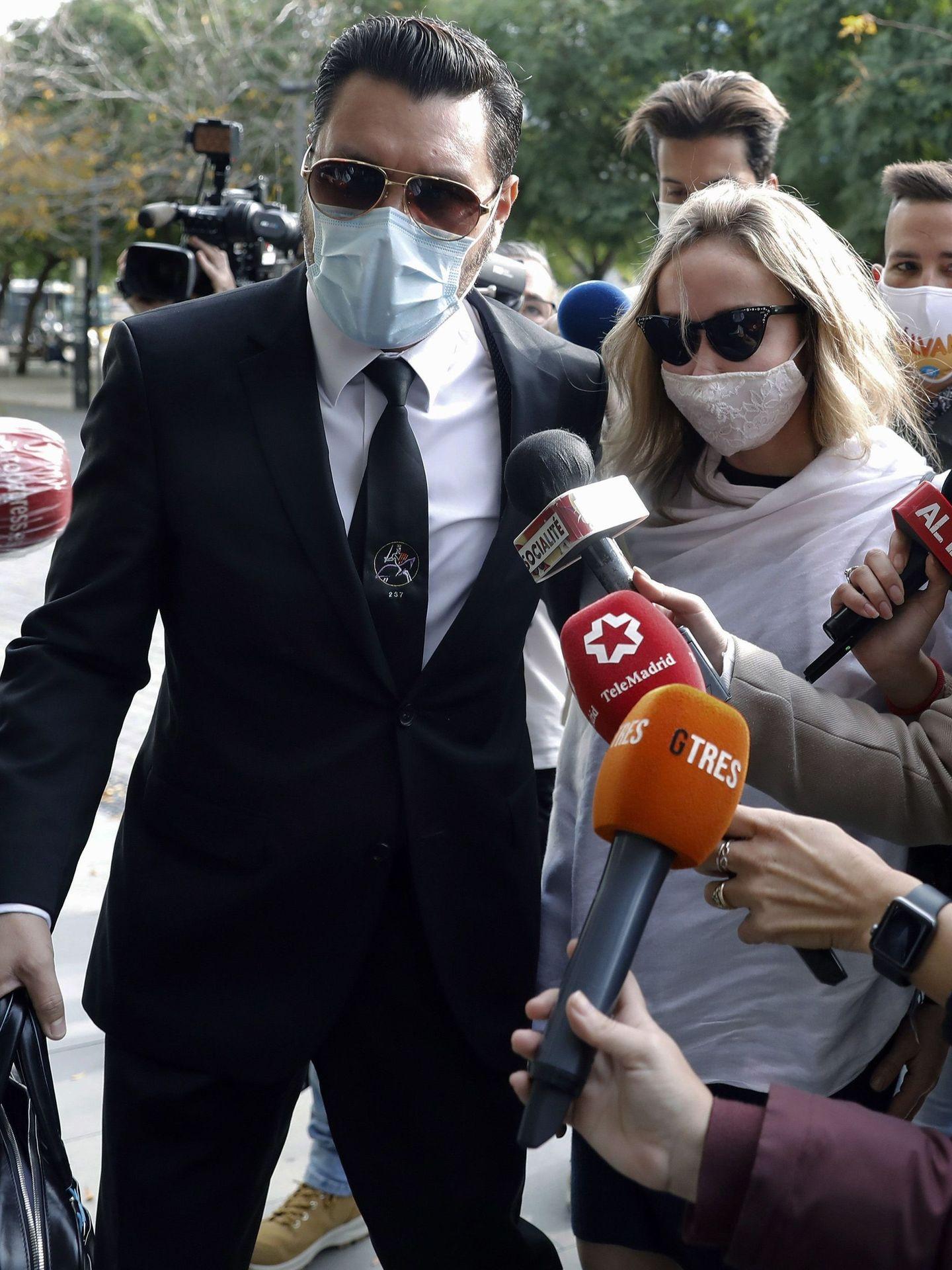 Angela Dobrowolski, en los juzgados de Barcelona. (EFE)