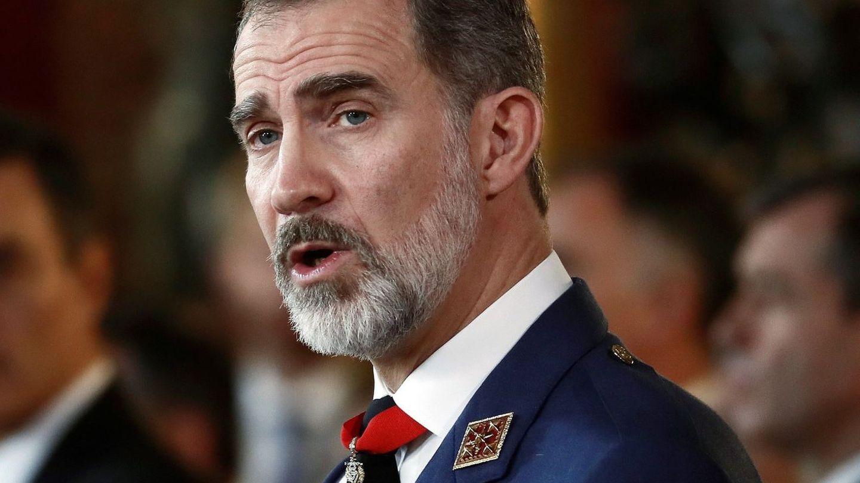 El rey Felipe VI, con una barba ligeramente más larga de lo habitual. (EFE)