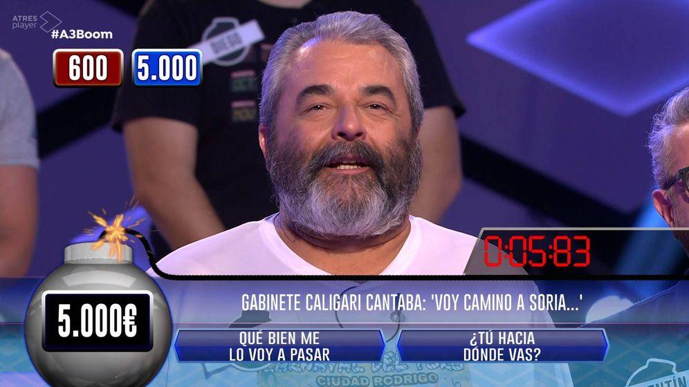 Foto: José Pinto en '¡Boom!'. (Atresmedia Televisión)