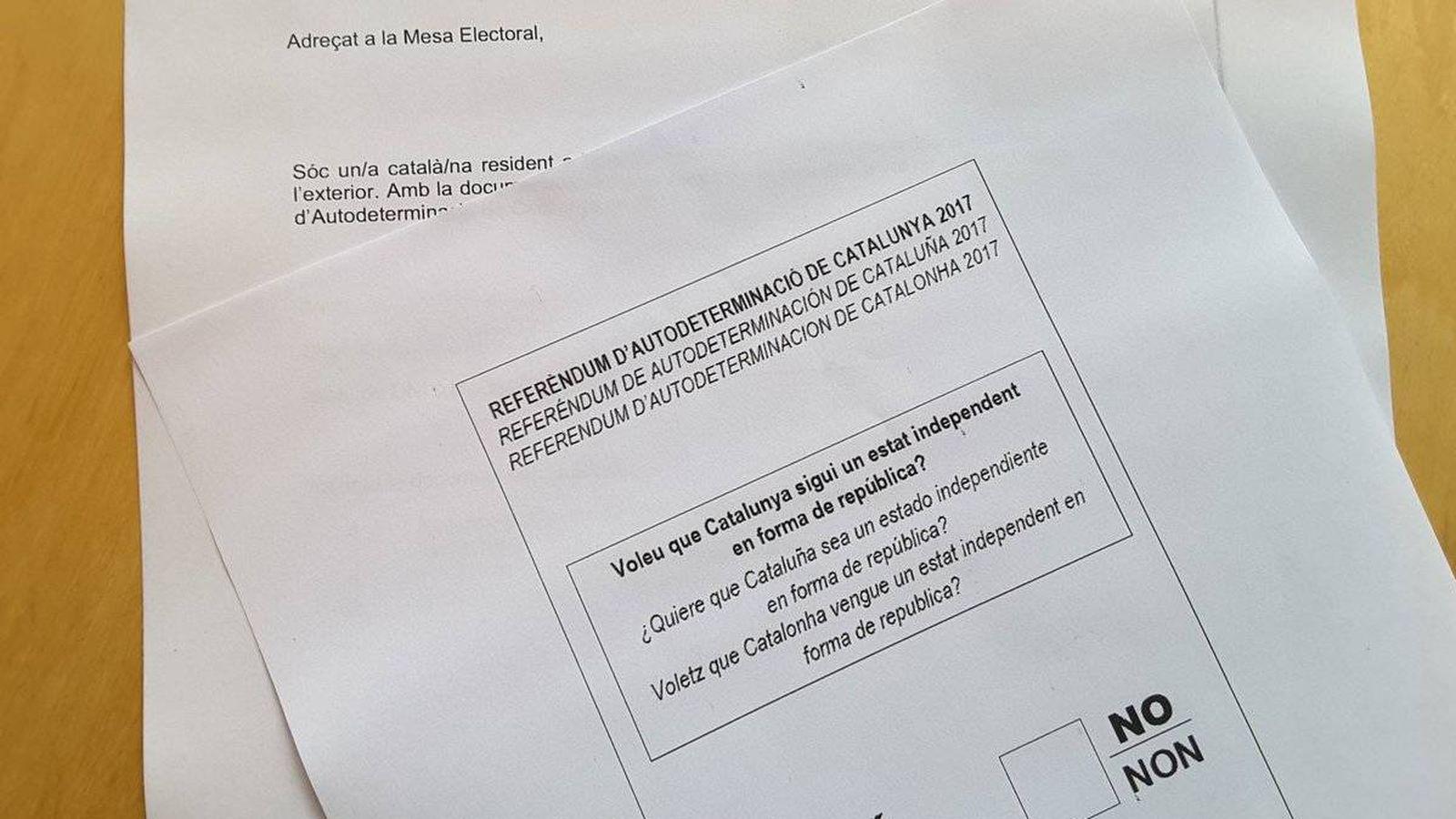 Foto: Papeleta del referéndum