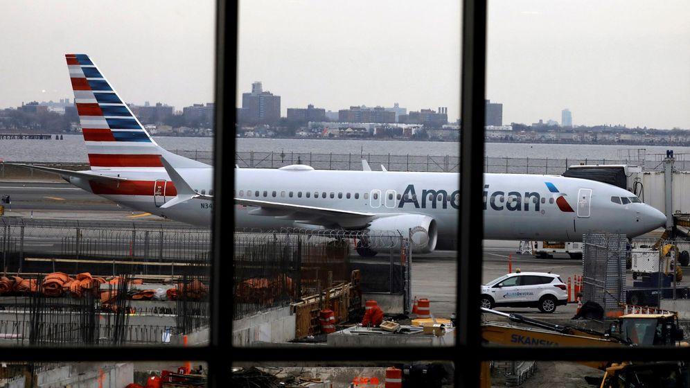 Foto: El Boeing 737 Max 8 de American Airlines. (EFE)